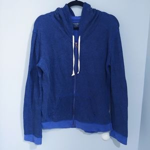 Xhileration purple Terry cloth zip up hoodie